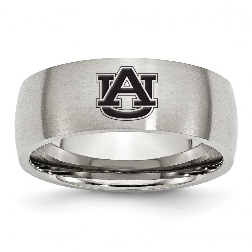 Auburn Tigers Stainless Steel Laser Etch Ring