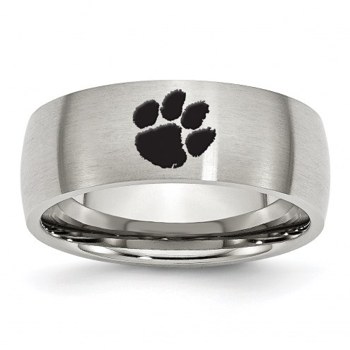 Clemson Tigers Stainless Steel Laser Etch Ring
