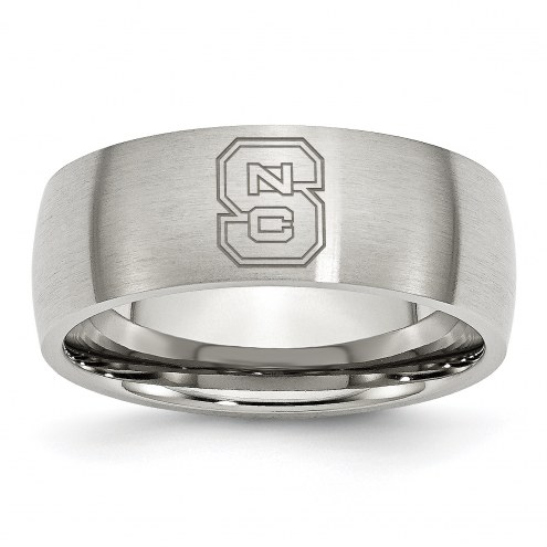 North Carolina State Wolfpack Stainless Steel Laser Etch Ring