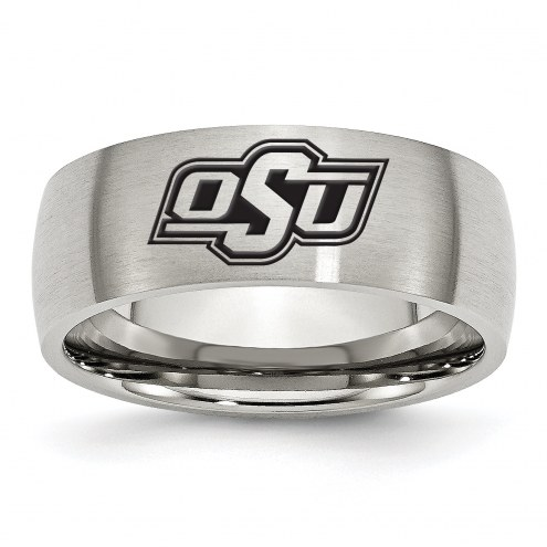 Oklahoma State Cowboys Stainless Steel Laser Etch Ring