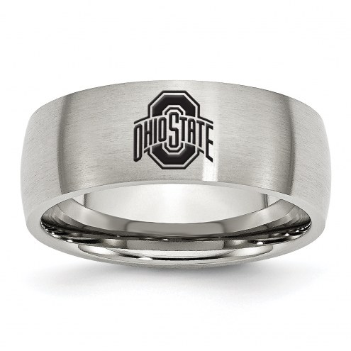 Ohio State Buckeyes Stainless Steel Laser Etch Ring