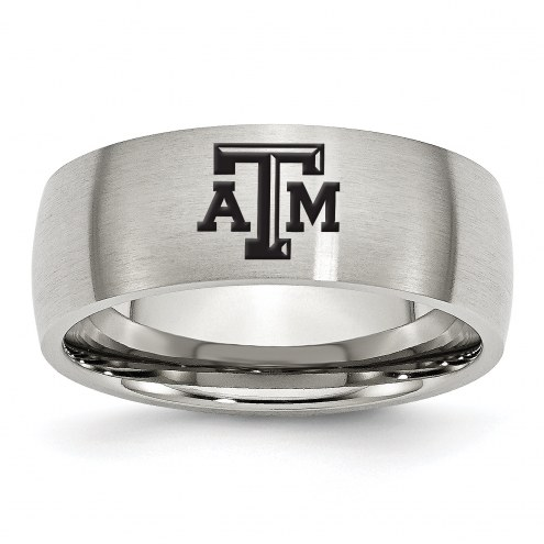 Texas A&M Aggies Stainless Steel Laser Etch Ring