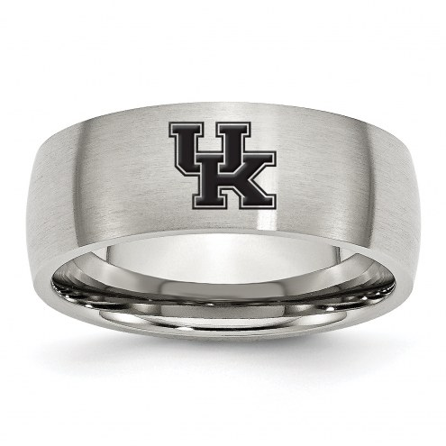 Kentucky Wildcats Stainless Steel Laser Etch Ring
