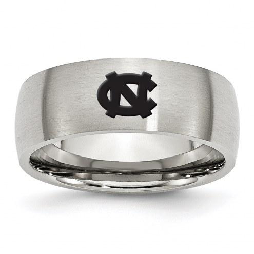 North Carolina Tar Heels Stainless Steel Laser Etch Ring
