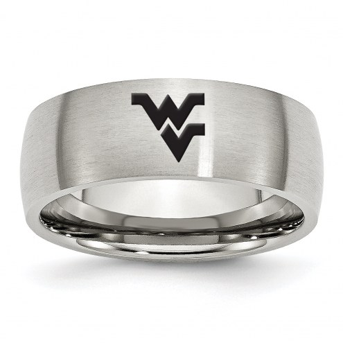West Virginia Mountaineers Stainless Steel Laser Etch Ring