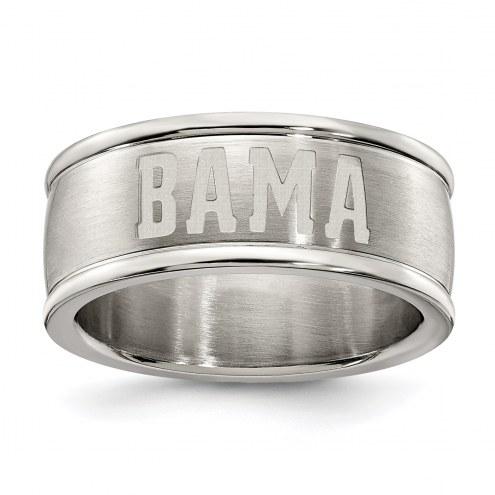 Alabama Crimson Tide Stainless Steel Logo Ring