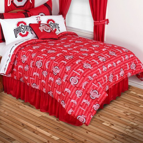 Ohio State Buckeyes All Over Bed Comforter