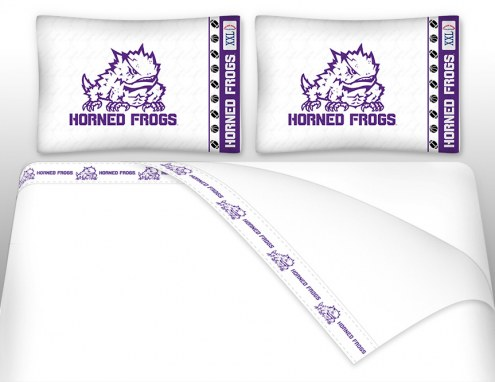 Texas Christian Horned Frogs Microfiber Bed Sheets Set