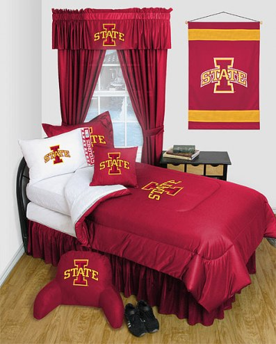 Iowa State Cyclones Jersey Comforter & Sheet Complete Bedding Set