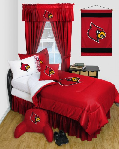 Louisville Cardinals Jersey Comforter & Sheet Complete Bedding Set