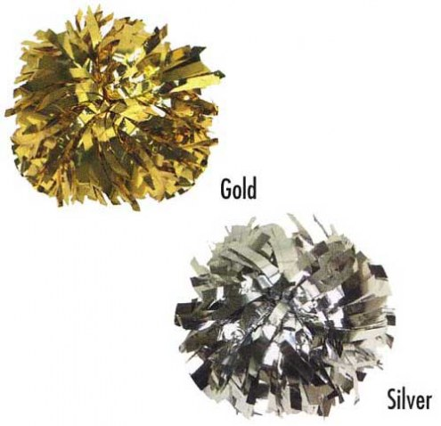 Youth Metallic Color Cheerleading Pom Poms