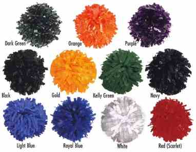 Youth Solid Color Cheerleading Pom Poms