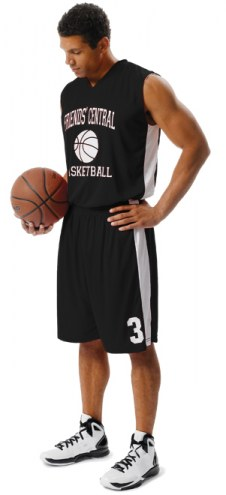A4 N2320 Reversible Adult Moisture Management Muscle Custom Basketball Uniform
