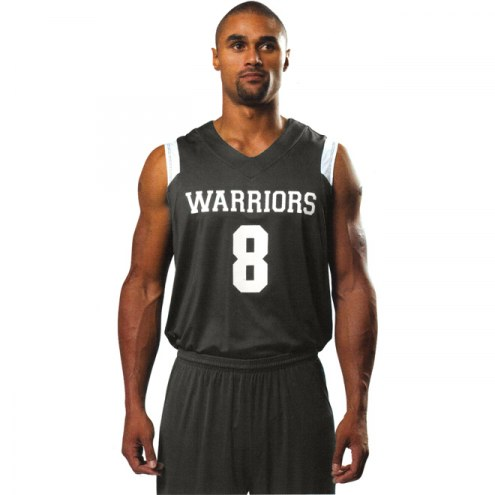 A4 N2340 Adult Moisture Management V-Neck Muscle Custom Basketball Uniform