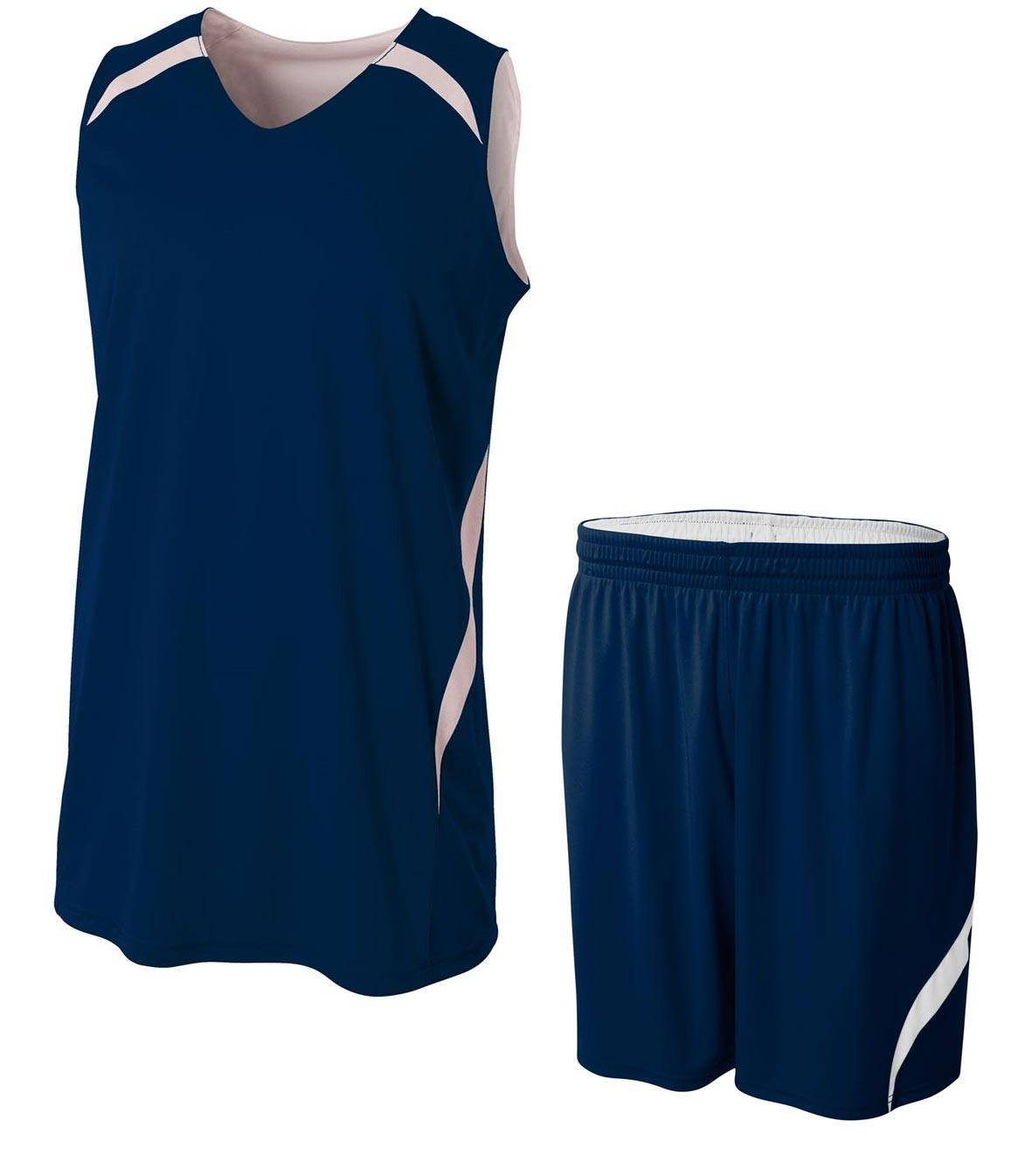 40ed2e8c1 A4 Adult Reversible Double Double Custom Basketball Uniform