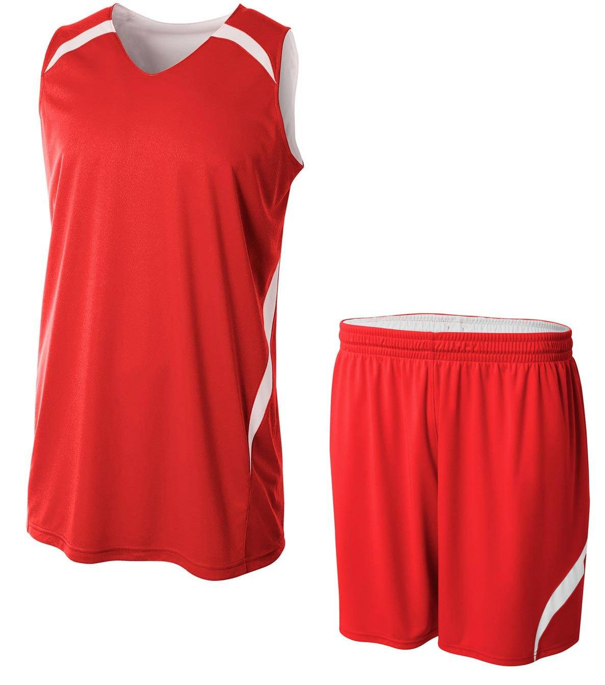 17b4c1f53 A4 Adult Reversible Double Double Custom Basketball Uniform