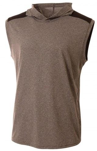 A4 Tourney Men's Hooded Sleeveless Custom T-Shirt
