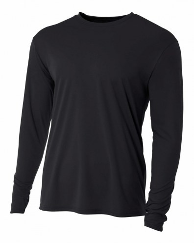 A4 Adult Cooling Performance Long Sleeve Custom Crew Shirt
