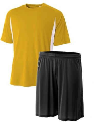 A4 Adult Cooling Performance Color Blocked Short Sleeve Crew Custom Uniform