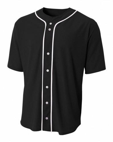 A4 Short Sleeve Full Button Men's Custom Baseball Jersey