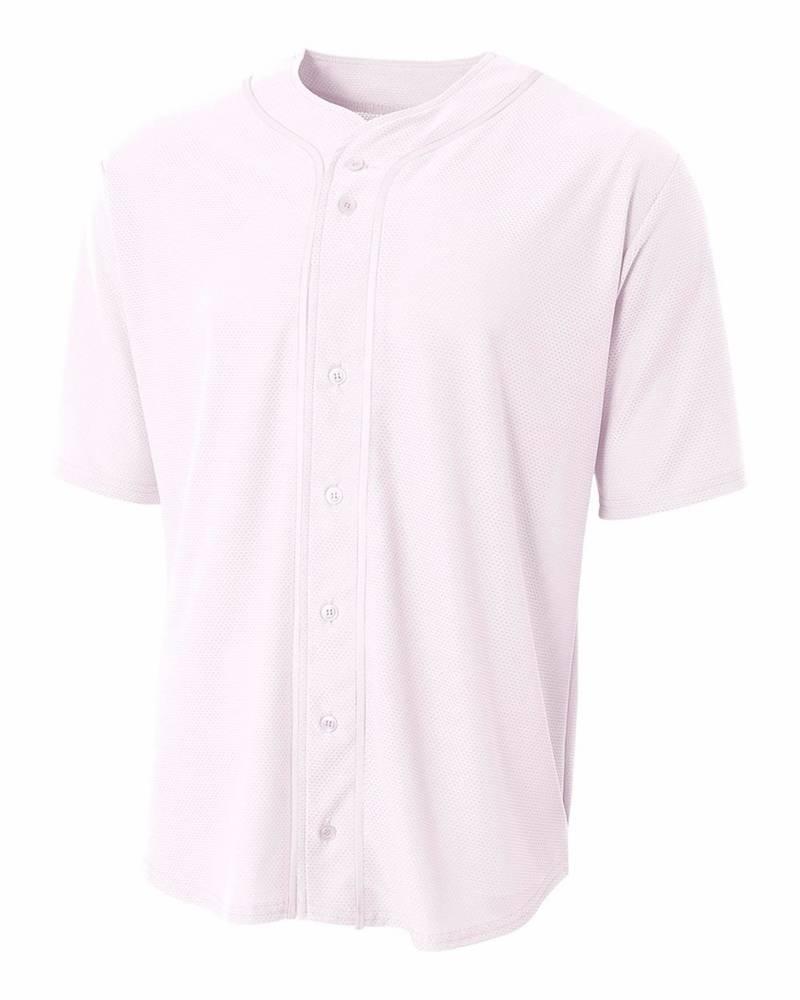 A4 Short Sleeve Full Button Men\'s Custom Baseball Jersey