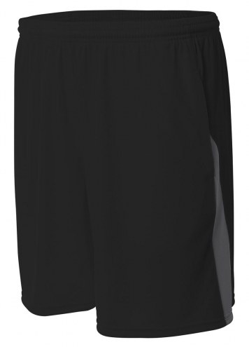 A4 Adult Pocketed Color Block Shorts