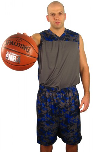 A4 Youth Camo Custom Basketball Uniform