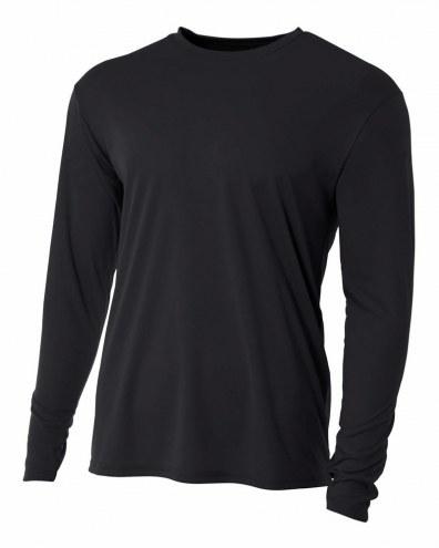 A4 Youth Cooling Performance Long Sleeve Custom Crew Shirt