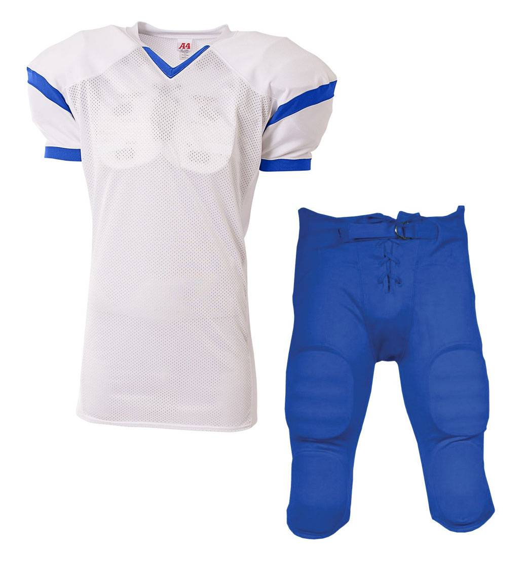0255532309a A4 Rollout Youth Custom Football Uniform with Integrated Football Pants