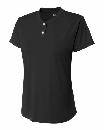 A4 Girls Tek 2 Button Henley
