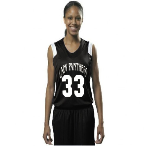 A4 Women's Moisture Management V-Neck Muscle Custom Basketball Jersey