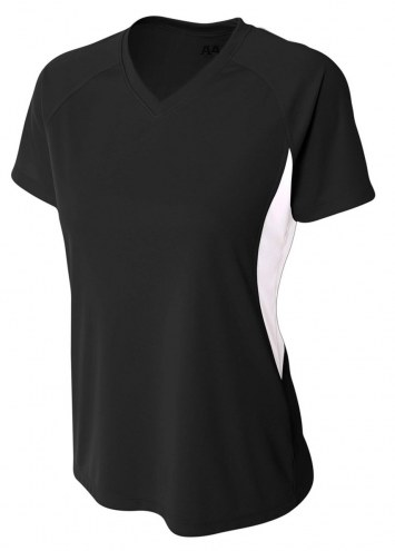 A4 Women's Cooling Performance Color Blocked V-Neck Jersey
