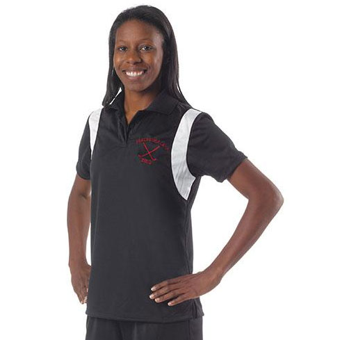 A4 Color Blocked Knit Women's Polo