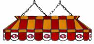 """San Francisco 49ers NFL Team 40"""" Rectangular Stained Glass Shade"""