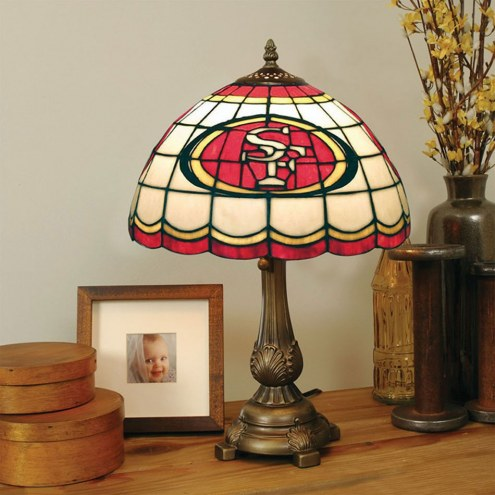 San Francisco 49ers NFL Stained Glass Table Lamp