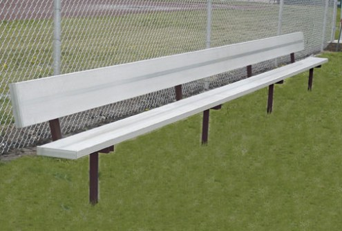 First Team 8' Teammate Fixed Player Bench with Backrest