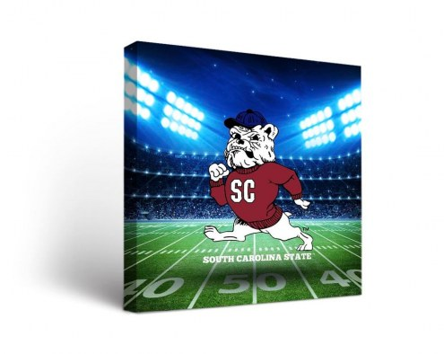 South Carolina State Bulldogs Stadium Canvas Wall Art