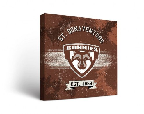 St. Bonaventure Bonnies Banner Canvas Wall Art