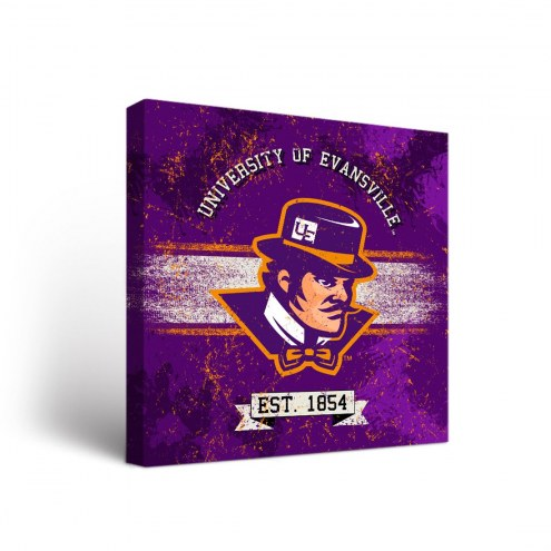Evansville Purple Aces Banner Canvas Wall Art