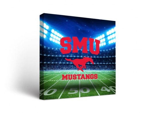Southern Methodist Mustangs Stadium Canvas Wall Art