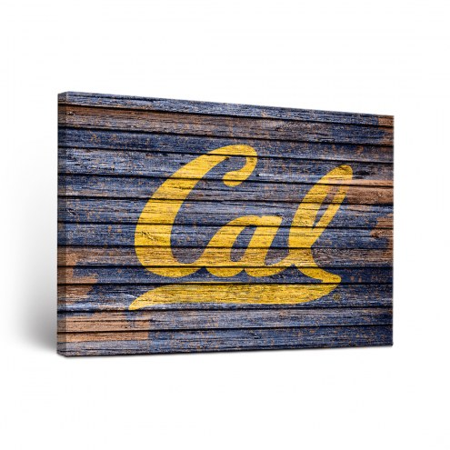 California Golden Bears Weathered Canvas Wall Art