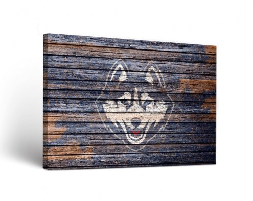 Connecticut Huskies Weathered Canvas Wall Art