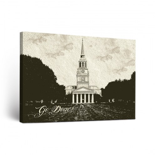 Wake Forest Demon Deacons Sketch Canvas Wall Art
