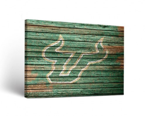 South Florida Bulls Weathered Canvas Wall Art