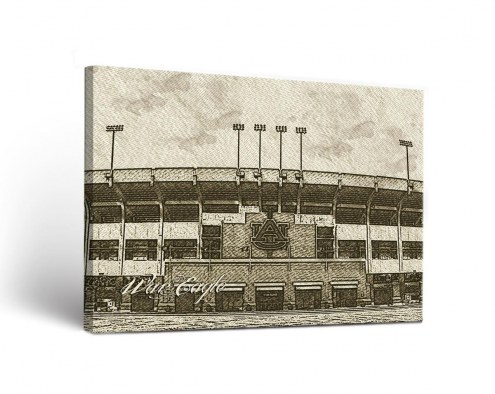 Auburn Tigers Sketch Canvas Wall Art