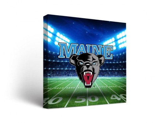 Maine Black Bears Stadium Canvas Wall Art