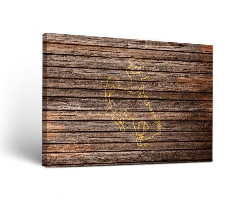 Wyoming Cowboys Weathered Canvas Wall Art