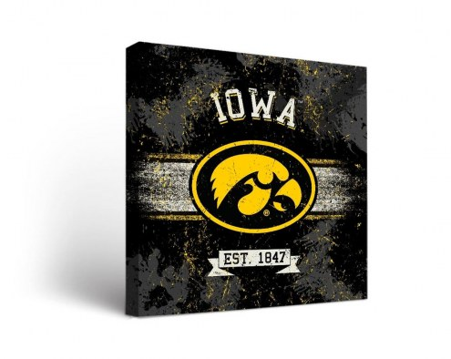 Iowa Hawkeyes Banner Canvas Wall Art