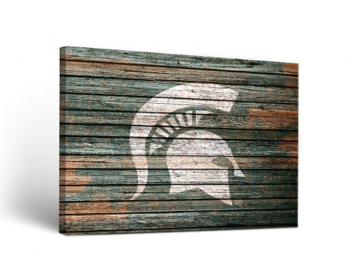 Michigan State Spartans Weathered Canvas Wall Art