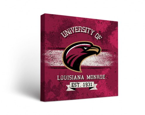 Louisiana-Monroe Warhawks Banner Canvas Wall Art